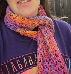 Summer Berry Crochet Scarf by jdfootloose on Etsy, $15.00