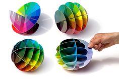 Puzzle en 3D para explicar la teoría del color y mostrar la relación de los…
