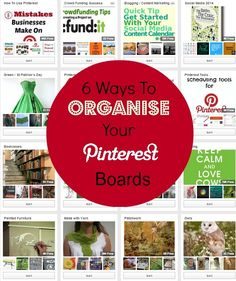 6 Ways To Organise Your Pinterest Boards - Write On Track How do you organise yours? #Pinterest #SocialMedia