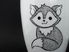 Weiße Tasse mit Fox