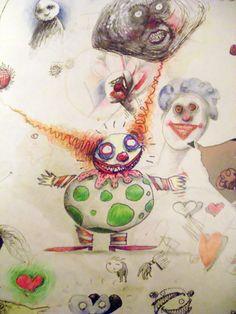 Tim Burton #illustrations #clowns Tim Burton Art Style, Tim Burton Stil, Tim Burton Artwork, Tim Burton Kunst, Illustrations, Illustration Art, Kandinsky Art, Little Shop Of Horrors, Expressive Art
