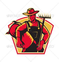 VECTOR DOWNLOAD (.ai, .psd) :: http://jquery.re/pinterest-itmid-1001644902i.html ... Farmer Agricultural Worker With Rake and Sack  ...  agricultural, agriculture, farmer, farming, hat, illustration, laborer, male, man, rake, retro, tool, tradesman, woodcut, worker  ... Vectors Graphics Design Illustration Isolated Vector Templates Textures Stock Business Realistic eCommerce Wordpress Infographics Element Print Webdesign ... DOWNLOAD :: http://jquery.re/pinterest-itmid-1001644902i.html