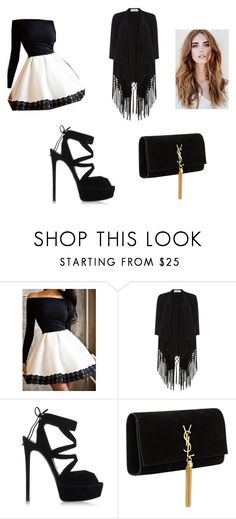 """tonight"" by lvm97 on Polyvore featuring Soaked in Luxury, Casadei and Yves Saint Laurent"