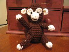 brown sponge stuffed monkey Monkey, Dinosaur Stuffed Animal, Toys, Brown, Crochet, Animals, Activity Toys, Monkeys, Animaux