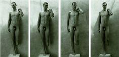 Miguel Ángel Rojas La serie David, compuesta por doce fotografías en blanco y negro que muestran la imagen de un soldado desnudo y mutilado que en su pose recuerda la estatua homónima de Miguel Ángel Buonarrotti