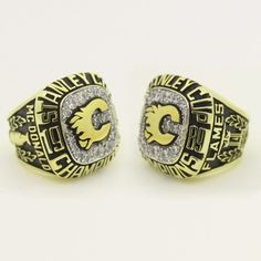 Custom 1989 Calgary Flames Stanley Cup Championship Ring