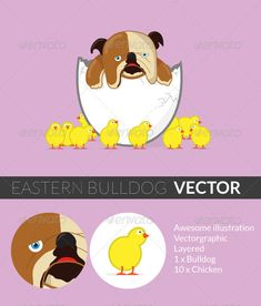 Easter Bulldog - Miscellaneous Seasons/Holidays