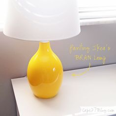 DIY - Painting Ikea's Bran Lamp using Acrylic Paint. Original lamp is clear glass. -Tutorial