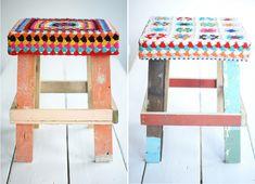crochet top stools