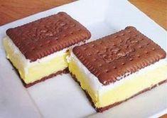 Ovaj kolač brzo se napravi, a još brže nestane SASTOJCI: petit keksi sok od višnje 1 litra mlijeka 15 žlica šećera 3 pudinga od vanilije 3 – 4 žlice brašna 250 g maslaca vrhnje za šlag PRIPREMA: Šećer, puding i brašno pomiješajte s malo mlijeka. Ostatak
