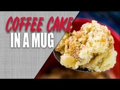 This Coffee Cake In A Mug recipe is the perfect remedy for a sugar craving! If you've tried other mug cakes and weren't sold, you have to try this one! It takes about a minute to bake in the microwave and about that much time to mix it together. It's fluffy, light, and has an irresistible streusel topping!