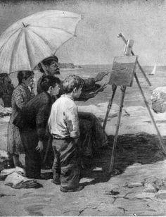 """Валентин Катаев """"Белеет парус одинокий"""".:  Иллюстратор В. Горяев, 1953"""