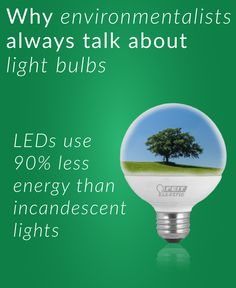 Learn how to save money with LED bulbs! Our Environment, Classroom Environment, Our Planet, Save The Planet, Together Lets, Energy Efficient Lighting, Carbon Footprint, Extra Money, Ecology
