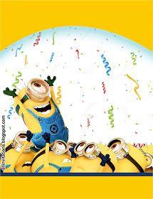 Plantilla de invitacion de minions                                                                                                                                                                                 Más Minion Theme, Minion Birthday, Birthday Songs, Baby Birthday, Birthday Quotes, Minion Party Invitations, Birthday Invitations, Minion Characters, Minion Jokes