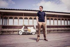 La collection Bradley Wiggins x Fred Perry pour l'automne-hiver Fred Perry, Mod Fashion, Fashion Brands, What Is Mod, Mens Fashion Casual Wear, Bradley Wiggins, Classic Vespa, Britpop, Come And Go