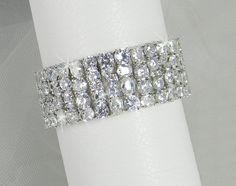 Crystal Bridal Bracelet Crystal Wedding Bracelet by CrystalAvenues, $100.00