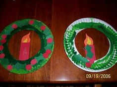 Christmas candle and wreath