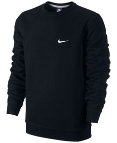 The Nike Club Swoosh Men's Crew has an incredibly soft interior for warmth and a worn-in feel. | Cotton/polyester | Machine washable | Imported | Rib crew neck with interior taping for comfort | Brush