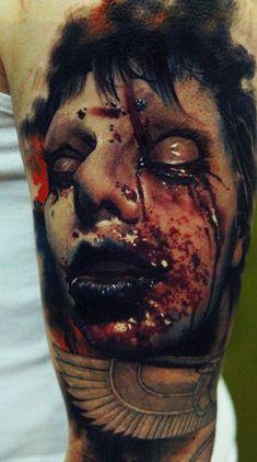 tattoo by Domantas Parvainis #tattoos #horrortattoos #realismtatttoos