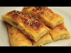 Hazır Baklava Yufkasından Peynirli Sodalı Rulo Börek Tarifi - YouTube