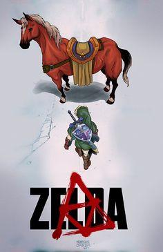 freak-cl:  henryscrapeteria:  My first and probably not last Zelda fanart.  y en el inesperado mashup del dia…..legend of zelda a la akira…