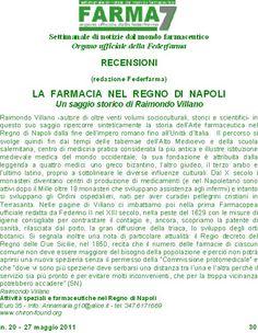 Recensione dall'Organo Ufficiale di informazione dei Farmacisti titolari italiani FEDERFARMA