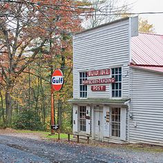 Mayberry Trading Post, Mile 180, Blue Ridge Parkway.  An old-timey country store selling homemade wooden bowls and apple butter