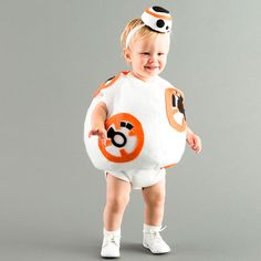Dress Up Your Little Love Bug in this BB8 Costume for Halloween via Brit + Co