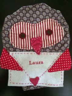 POTTERY BARN KIDS VALENTINE'S DAY OWL CHAIR BACKER *LAURA* NEW HEART MAIL GIFT