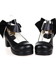 57f2b53d45f   64.99  Lolita Shoes Classic Lolita Dress Handmade High Heel Shoes Solid  Colored 4.5 cm CM Black For PU Leather   Polyurethane Leather Halloween  Costumes