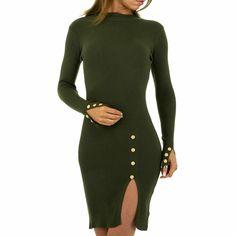 schwarz Melrose Damen Kleid mit Nieten