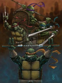 Teenage Mutant Ninja Turtles by TomallicA.deviantart.com