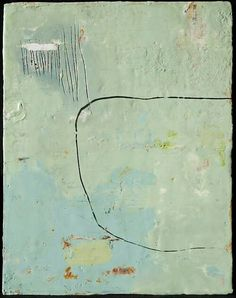Lisa Pressman. love the color of mint/ seafoam green and the definition of space with one line!