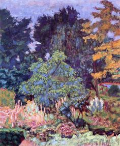 ❀ Blooming Brushwork ❀ - garden and still life flower paintings - The Garden at Vernon / Pierre Bonnard, circa 1927