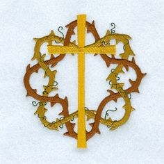 Vine Cross Crown - 5x7 | Easter | Machine Embroidery Designs | SWAKembroidery.com Starbird Stock Designs