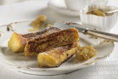 Apple butter and cinnamon custard toasts recipe