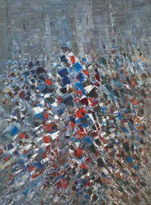 Jacques Germain - Bleu Blanc Rouge #gallery #art #abstraction #paris #pfgarcier