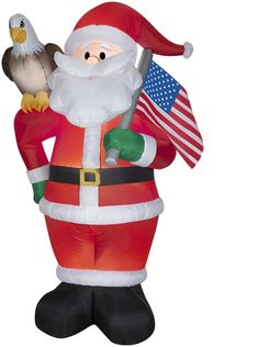 airblown inflatables christmas all american santa decoration