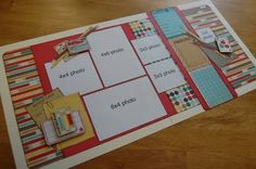 """September's Debbie Sanders sketch layout (tip -- use other """"cards"""" in the kit to change from a school theme to a general theme)..."""
