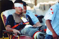 9/11~A NEW YORK CITY: A firefighter who was injured in the attacks was brought across the river to Jersey City via ferry, & treated at the Jersey City Medical Center.