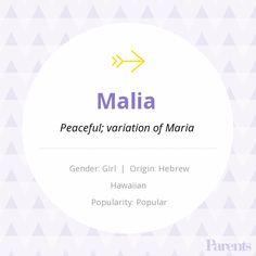 Baby Name: Malia