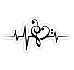 MUSIC HEART PULSE, Love, Music, Bass Clef, Treble Clef, Classic ...