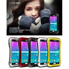 LoveMei Antichoc Etanche Robuste Waterproof Shockproof Protection Metal Case for SAMSUNG GALAXY Note4(Assorted Colors) – USD $ 29.99