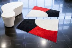 Lindström Group's shaped design mats are available in various sizes and shapes, ranging from a triangle to a hexagon. With shaped design mats you can add flamboyance to your décor and brand building or control the direction of traffic. #lindstromgroup #matservices #mat #designmat #interiordesign #carpet #companyimage #brandimage #shapemats #trapezoid #matrentalservice #rental #customerspecificdesignmat #image
