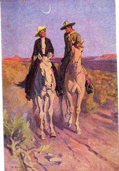 Buddies in the Saddle: Honoré Willsie Morrow, The Heart of the Desert (1913) - William Herbert Dunton