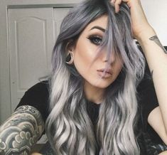 Turquoise Blue And Black Ombré Waves - 20 Pastel Blue Hair Color Ideas You Have to Try - The Trending Hairstyle Summer Hairstyles, Pretty Hairstyles, Braided Hairstyles, Blue Hair, Greyish Purple Hair, Black To Grey Ombre Hair, Dark Silver Hair, Silver Ombre Hair, Grey Blonde