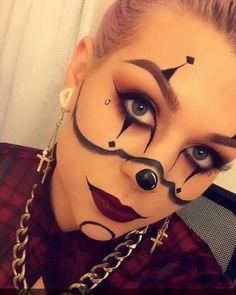 Gangsta clown makeup for Halloween