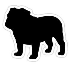 english bulldog silhouette - Google Search