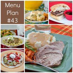 rmk menu plan week 43 w/ free printable shopping list