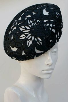 White and Black Women Beret